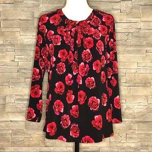 Karl Lagerfeld floral poppy top